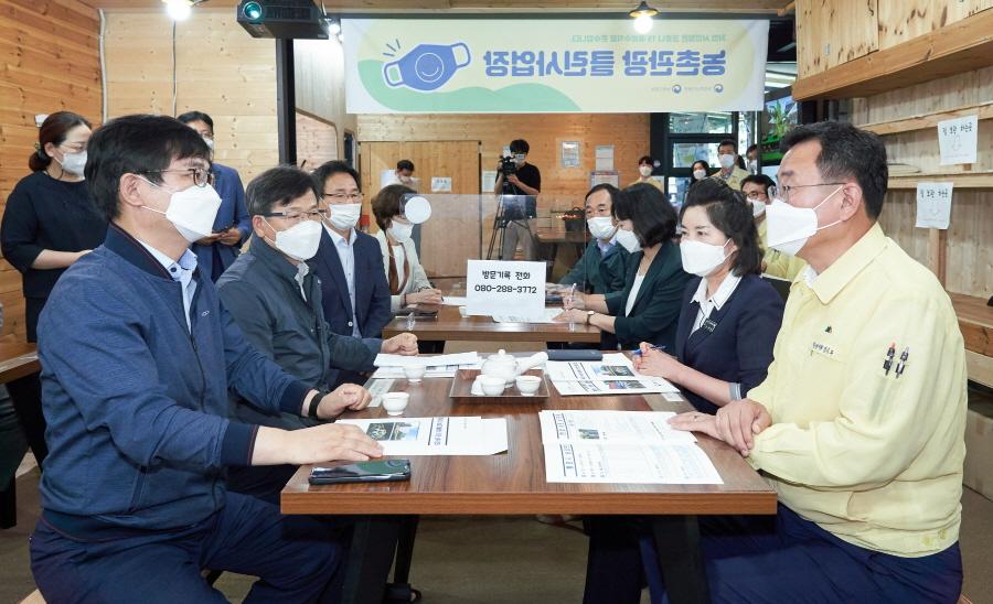 <포토아이>허태웅 농촌진흥청장, 통영시 영농현장 방문