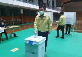 강석주 통영시장, 제21대 국회의원 선거 사전투표